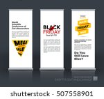 vector set of modern roll up... | Shutterstock .eps vector #507558901