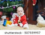 little beautiful baby in...   Shutterstock . vector #507559957