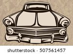 Retro Muscle Car Vector...