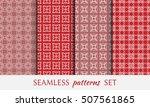 seamless geometric line... | Shutterstock .eps vector #507561865