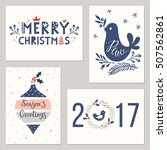 merry christmas greeting cards... | Shutterstock .eps vector #507562861