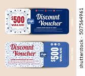 discount voucher vector... | Shutterstock .eps vector #507564961