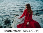Beautiful Girl By The Sea. A...