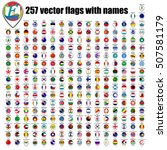 flags of the world  round icons ... | Shutterstock .eps vector #507581179
