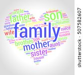 family word cloud in shape of...   Shutterstock .eps vector #507582607
