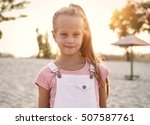 girl relaxing on the beach on a ...   Shutterstock . vector #507587761