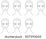 trouble of the skin of the face.... | Shutterstock .eps vector #507593035