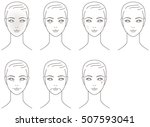 skin. aging. the face of the... | Shutterstock .eps vector #507593041
