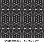 abstract geometry pattern. line ... | Shutterstock .eps vector #507596194