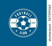football club emblem line icon... | Shutterstock .eps vector #507599365