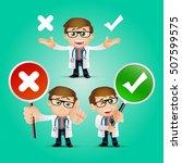 people set   profession  ... | Shutterstock .eps vector #507599575
