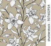 floral seamless pattern. flower ... | Shutterstock .eps vector #507602914