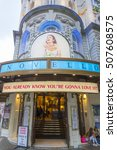 Small photo of The ABBA Musical Mamma Mia at the Novello Theatre in London - LONDON / ENGLAND - SEPTEMBER 23, 2016