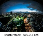 tokyo japan at night view  | Shutterstock . vector #507611125
