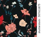elegant seamless botanical... | Shutterstock .eps vector #507611875