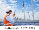 electrical engineers working at ... | Shutterstock . vector #507614989