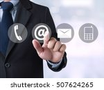 contact us  customer support... | Shutterstock . vector #507624265