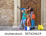 group of young multi cultural... | Shutterstock . vector #507624619