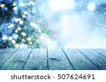 christmas table background | Shutterstock . vector #507624691