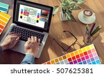 creative designer graphic at... | Shutterstock . vector #507625381