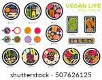 vector vegetable elements... | Shutterstock .eps vector #507626125