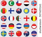 world flag icons   stickers 5 5 ... | Shutterstock .eps vector #507635161