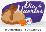 delicious and traditional... | Shutterstock .eps vector #507635491