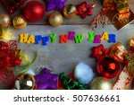 christmas and new year... | Shutterstock . vector #507636661