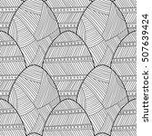 black  white seamless pattern... | Shutterstock .eps vector #507639424