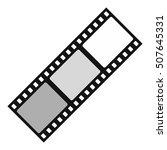 film icon. flat illustration of ... | Shutterstock .eps vector #507645331