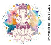 ganesha  or ganapati  indian... | Shutterstock .eps vector #507646231