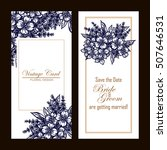 vintage delicate invitation... | Shutterstock .eps vector #507646531