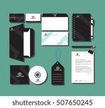 corporate branding design sets... | Shutterstock .eps vector #507650245