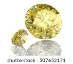 shiny white yellow sapphire... | Shutterstock . vector #507652171