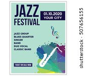 jazz festival poster templates   Shutterstock .eps vector #507656155