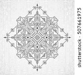 seamless ethnic pattern with... | Shutterstock .eps vector #507661975