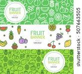 vegan banner flyer horizontal... | Shutterstock .eps vector #507663505