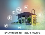home security concept abstract | Shutterstock . vector #507670291