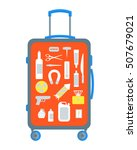 restricted items set in the... | Shutterstock .eps vector #507679021