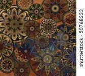 art vintage stylized geometric... | Shutterstock . vector #50768233
