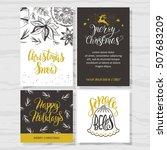 merry christmas invitation set.... | Shutterstock .eps vector #507683209