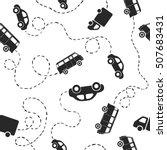 seamless flat vector pattern  ... | Shutterstock .eps vector #507683431