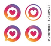 chat sign icon. speech bubble... | Shutterstock .eps vector #507689137
