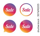 sale sign icon. special offer... | Shutterstock .eps vector #507690355