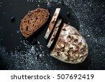 freshly baked homemade artisan... | Shutterstock . vector #507692419