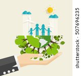 eco friendly. ecology concept...   Shutterstock .eps vector #507696235