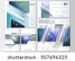social media posts set.... | Shutterstock .eps vector #507696325