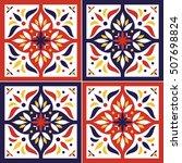 tile pattern vector seamless... | Shutterstock .eps vector #507698824