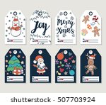 christmas and new year gift... | Shutterstock .eps vector #507703924