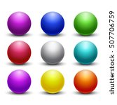 colored glossy  shiny 3d balls  ... | Shutterstock .eps vector #507706759
